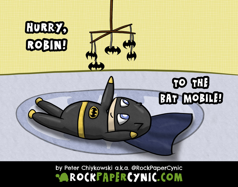 Batman fights crime with the powers of adorable and sleepiness