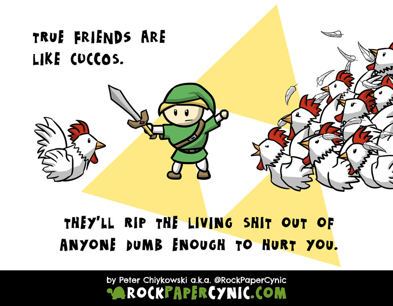 the Zelda games provide a perfect model of true friendship by way of cuccos