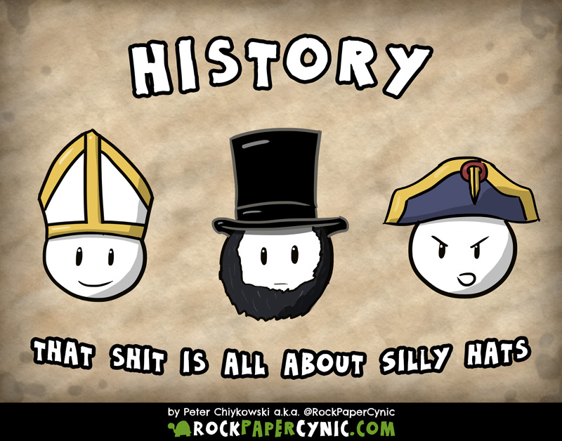 all of human history is expressed in seven words about hats