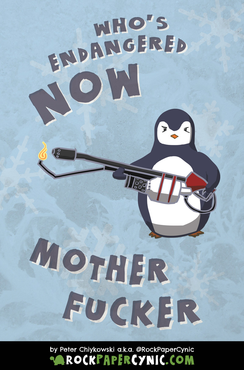the penguins threaten YOU with extinction