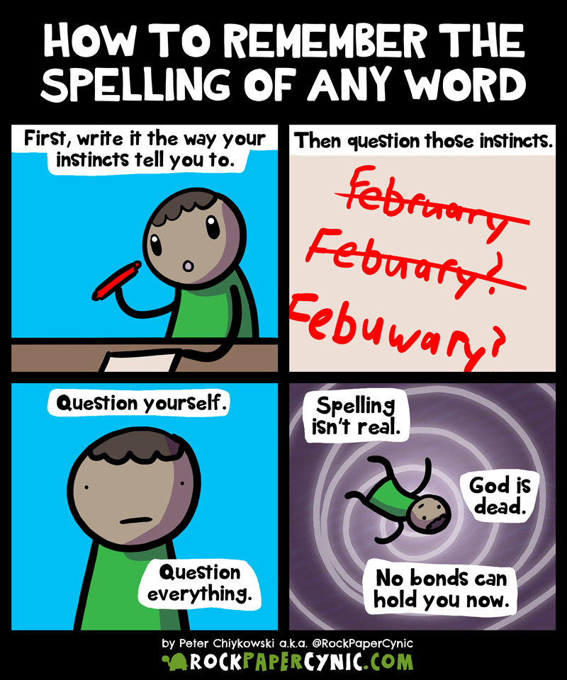 we share a little life hack for remembering the spelling of any word in the English language